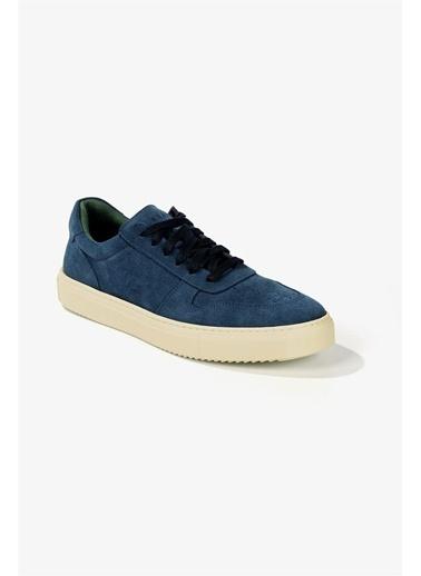 Krähe Cuervo Jean Mavi Süet Minimal Sneaker Mavi